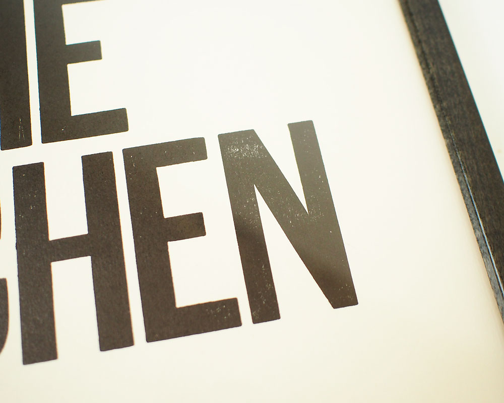 A TWO PIPE PROBLEM LETTERPRESS | PEACE IN THE KITCHEN POSTER ピースインザキッチン ポスター
