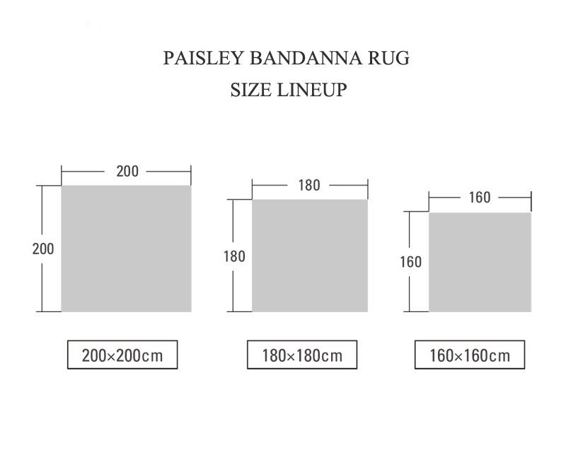 DETAIL | Paisley Bandana Rug Gray [3size] ペイズリーバンダナラグ グレー