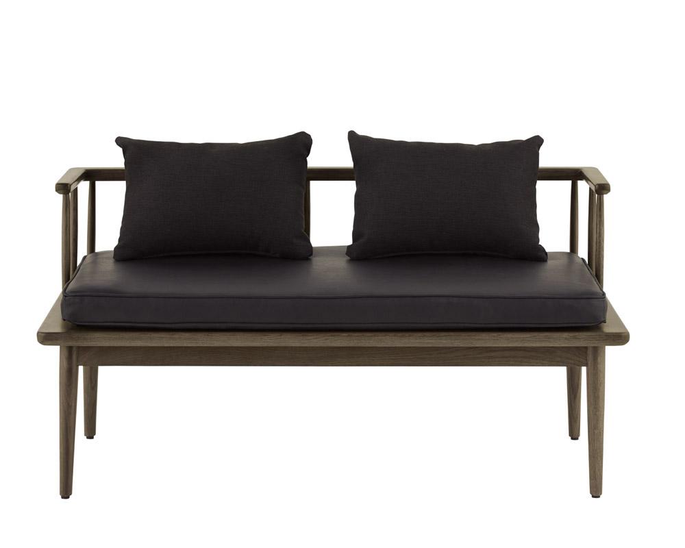 journal standard Furniture | ALVESTA BENCH BLACK アラベスタベンチ ブラック