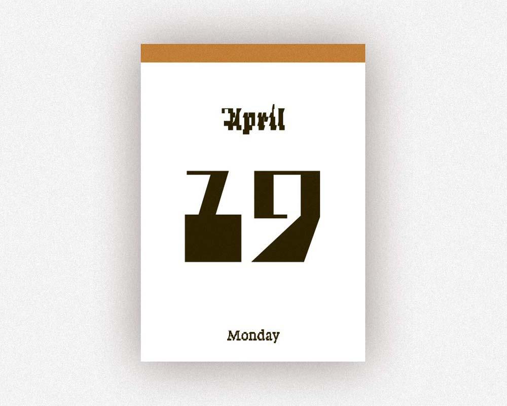 verlag hermann schmidit | TYPODARIUM 2021 タイポダリウム/カレンダー