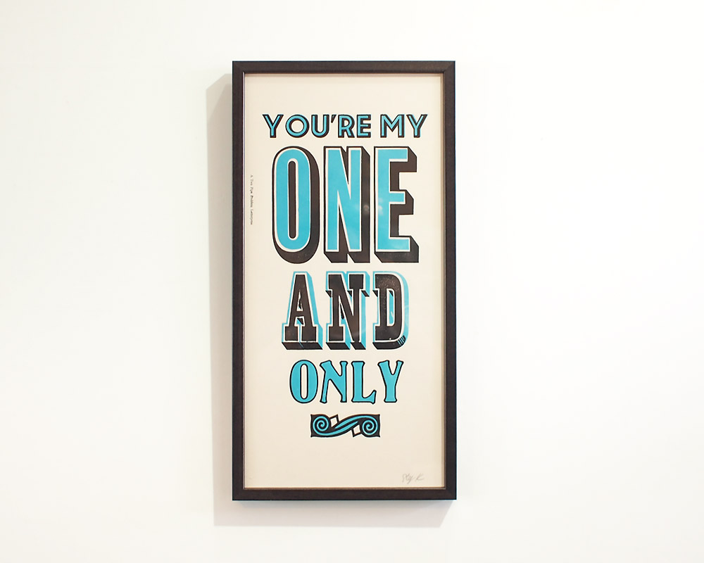 A TWO PIPE PROBLEM LETTERPRESS | ONE AND ONLY POSTER ワンアンドオンリー ポスター