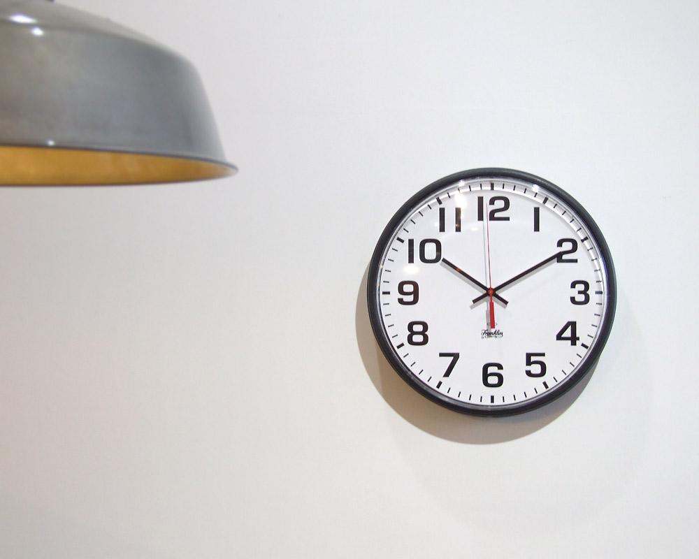 "Franklin Instrument Company | 12"" Standard Full Number Wall Clock スタンダードフルナンバー ウォールクロック"