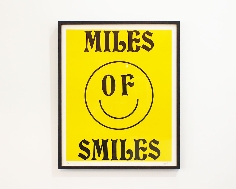 A TWO PIPE PROBLEM LETTERPRESS   MILES OF SMAILES POSTER マイルズオブスマイルズ ポスター