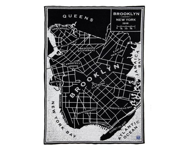 FARIBAULT WOOLEN MILL | Vintage City Map Wool Throw Brooklyn シティーマップ スロー/ブランケット