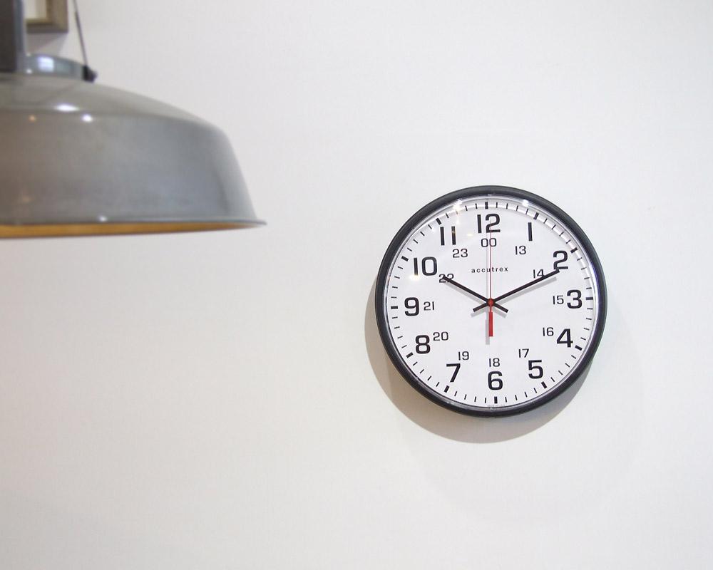 "Franklin Instrument Company | 12"" Accutrex 12/24 Wall Clock  アキュートレックス ウォールクロック"