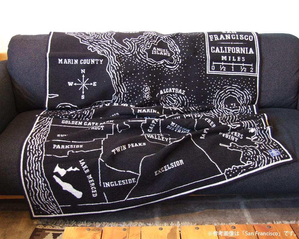 FARIBAULT WOOLEN MILL | Vintage City Map Wool Throw San Francisco シティーマップ スロー/ブランケット