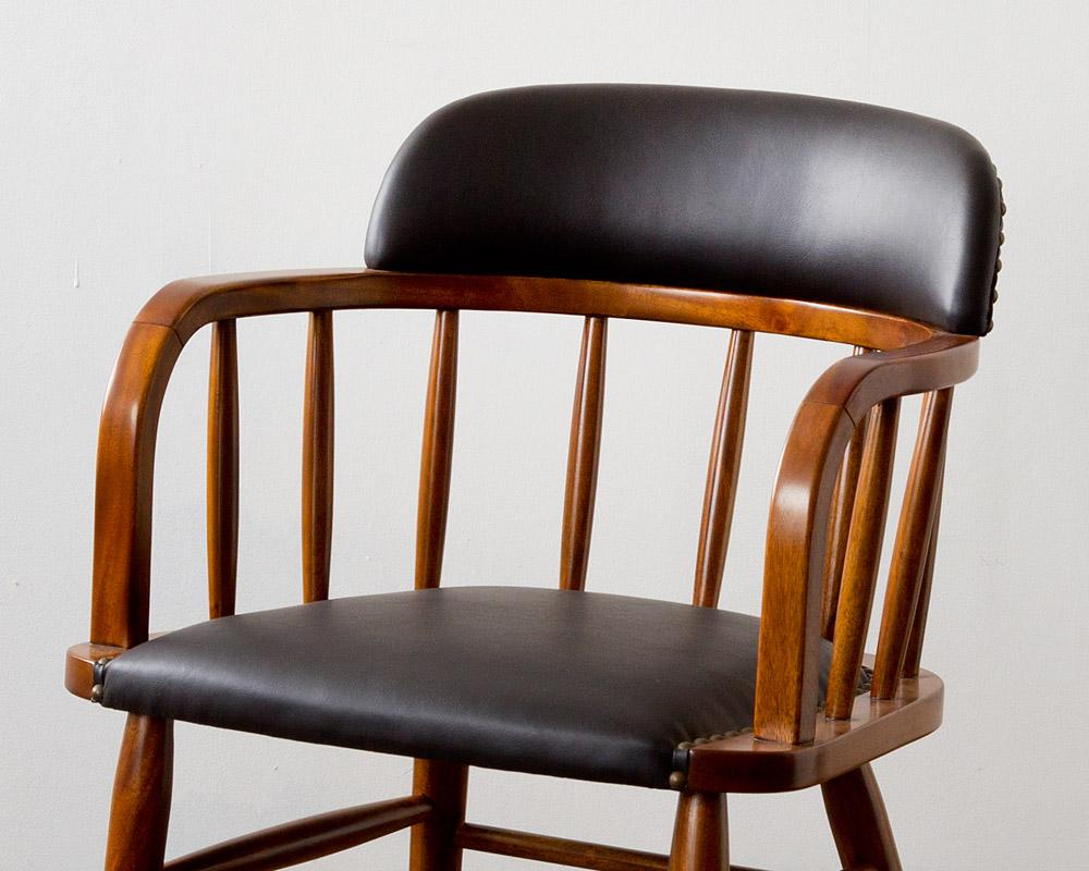 ACME Furniture | OAKS ARM CHAIR_PVC BLACK オークスアームチェア PVCブラック