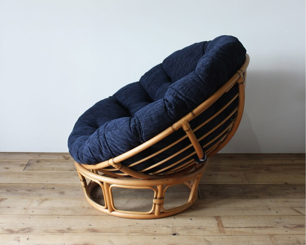ACME Furniture | WICKER EASY CHAIR / STOOL NAVY ウィッカーイージーチェア/スツール ネイビー