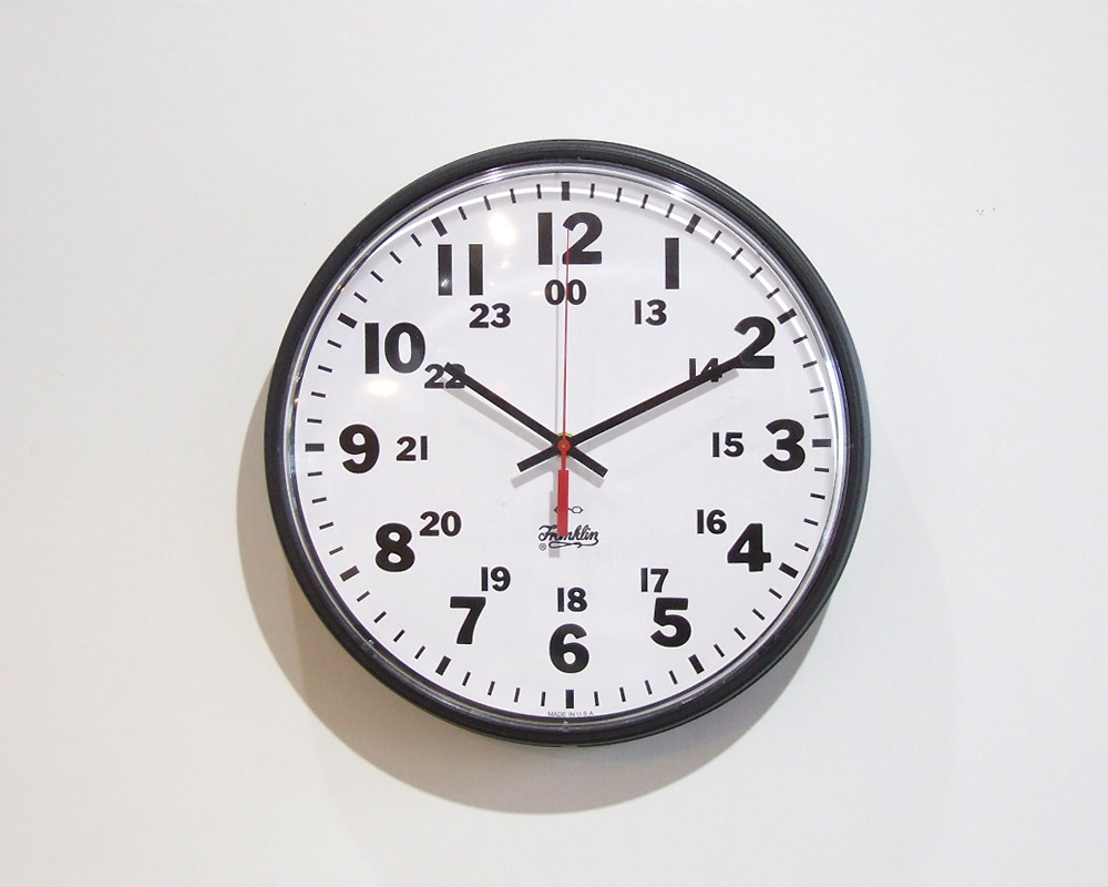 "Franklin Instrument Company | 12"" 12/24 Hour Wall Clock  12/24アワーウォールクロック"