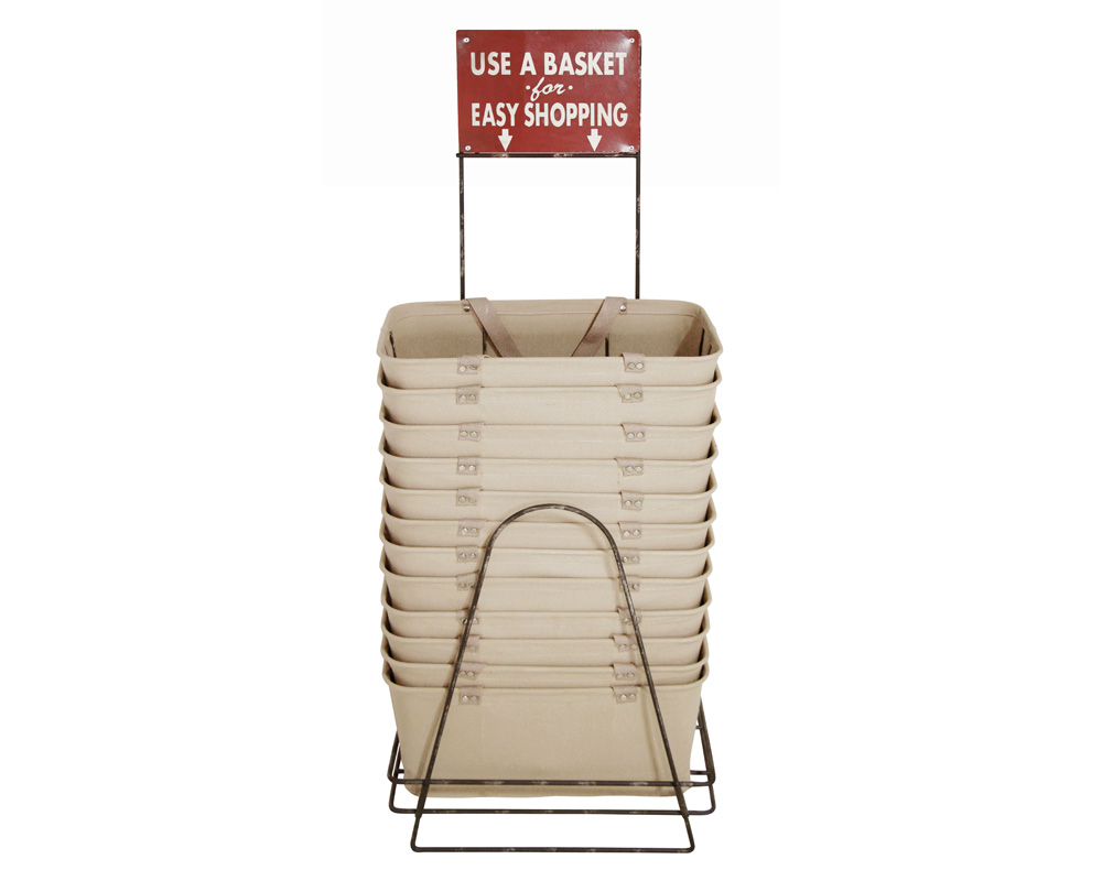 Lostine USA | Shopping Baskets Set (Beige) with Holder  ショッピングバスケット ホルダー付
