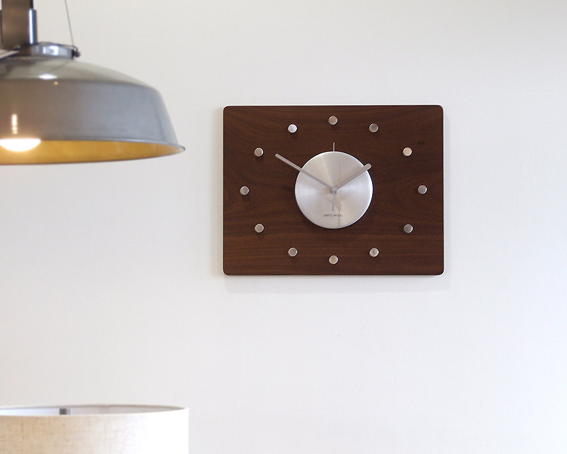 SAITO WOOD   Wall Clock Walnut プライウッド ウォールクロック ウォールナット