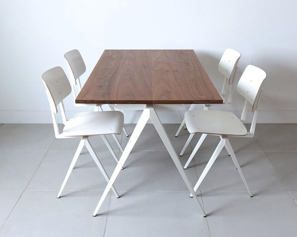 GALVANITAS | TD.4 Table Walnut/White [2size] ガルファニタスTD.4テーブル ウォールナット/ホワイト