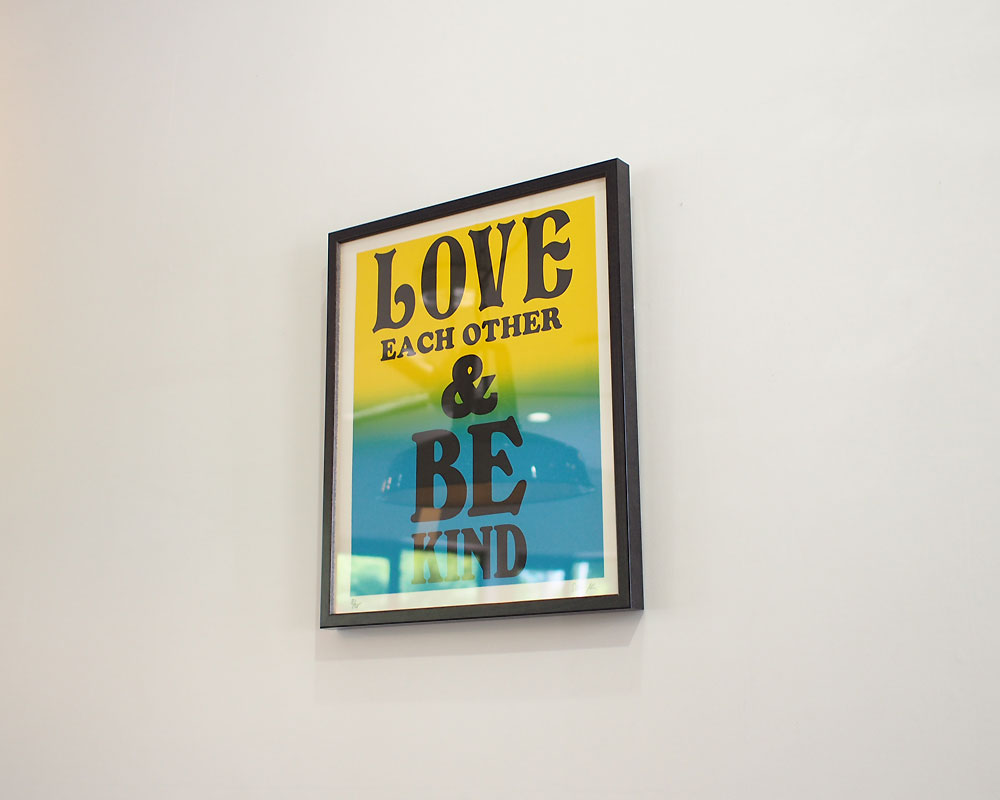 A TWO PIPE PROBLEM LETTERPRESS | LOVE EACH OTHER POSTER ラブイーチアザー ポスター