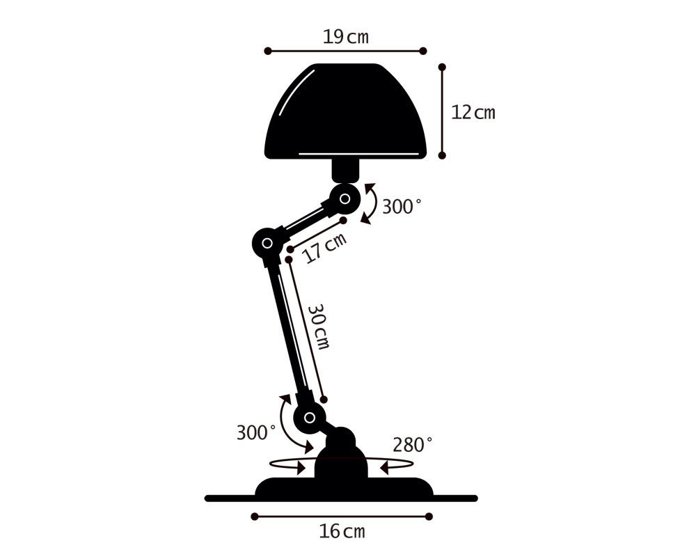Jielde | 373 Aicler Curve Desk Lamp [2color] 373アイクラーカーブデスクランプ