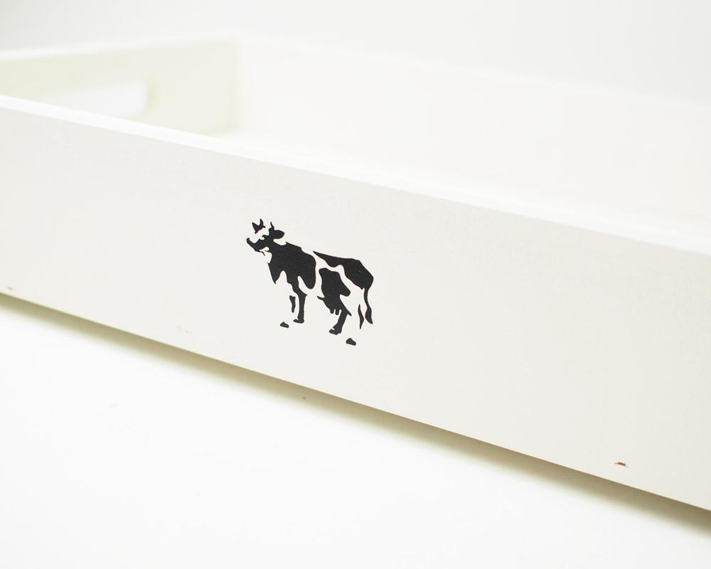 COW BOOKS | Wood Box Ivory X-Small Stacking ウッドボックス アイボリー Xスモールスタッキング