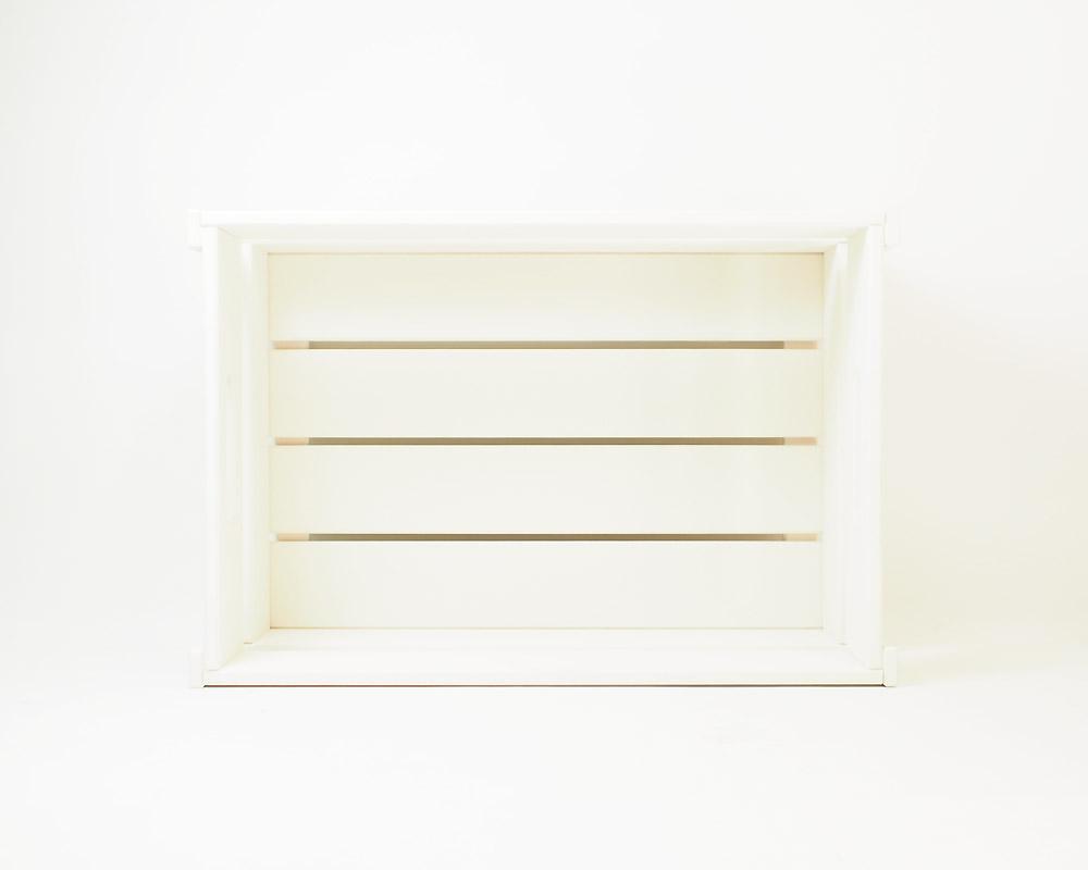 COW BOOKS | Wood Box Ivory Small Stacking ウッドボックスアイボリー スモール スタッキング