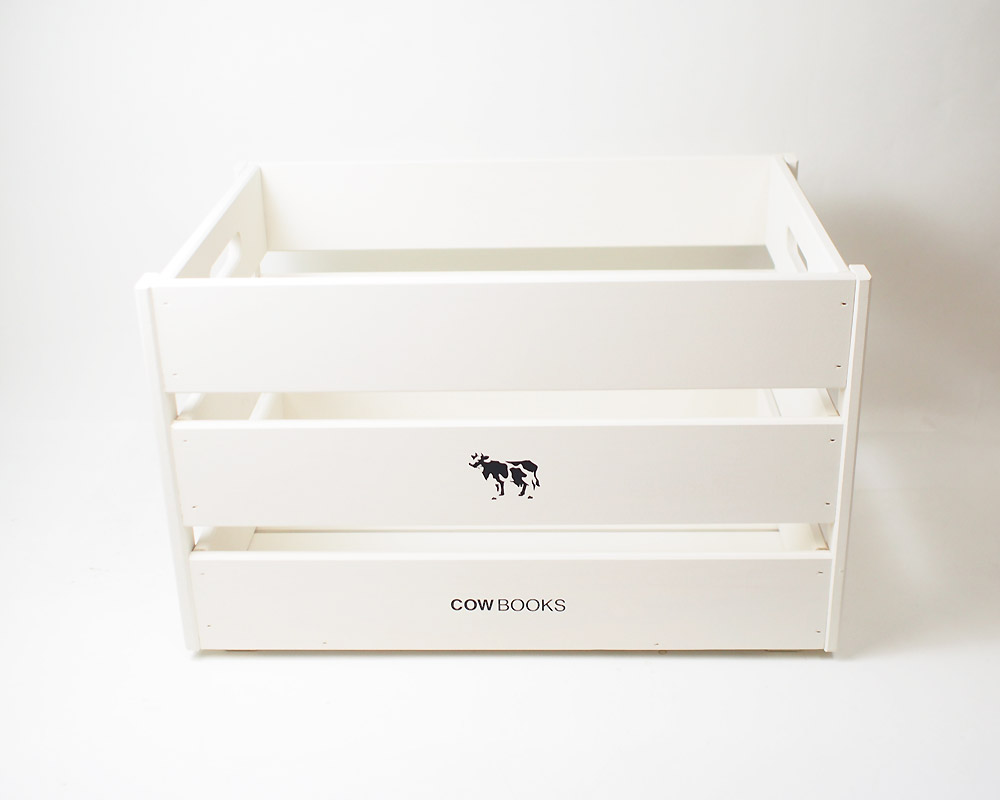 COW BOOKS | Wood Box Ivory Big Stacking ウッドボックスアイボリー ビッグ スタッキング
