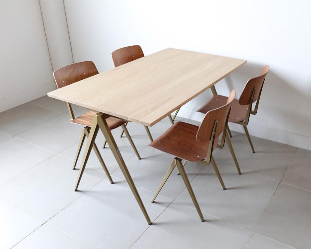 GALVANITAS | TD.4 Table Oak/P.Gold [2size] ガルファニタスTD.4テーブル オーク/パールゴールド