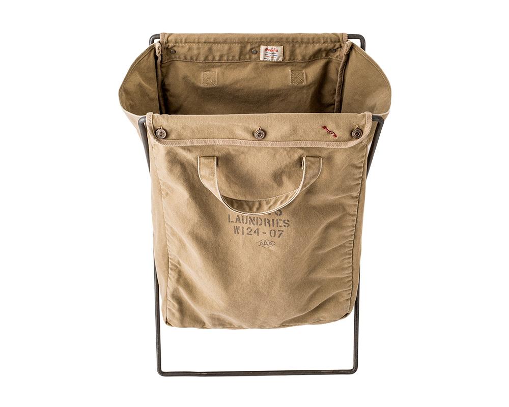 BasShu | Laundry Bag with Iron Frame Beige ランドリーバッグ フレーム付 ベージュ