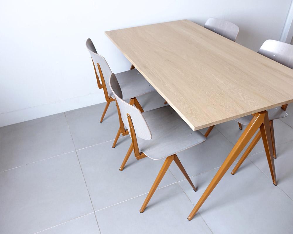 GALVANITAS | TD.4 Table Oak/R.Brown [2size] ガルファニタスTD.4テーブル オーク/ロームブラウン