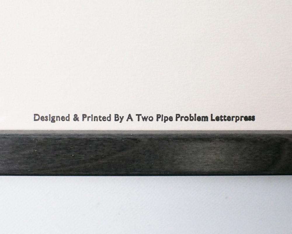 A TWO PIPE PROBLEM LETTERPRESS | MUST HAVE OWN DRUMS POSTER マストハブオウン ポスター