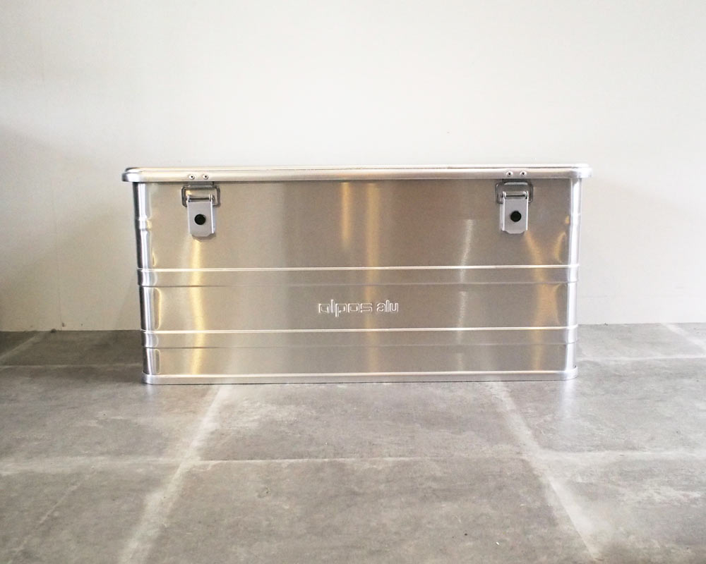ALPOS | ALUMI CONTAINER with LID アルミコンテナ 蓋付き