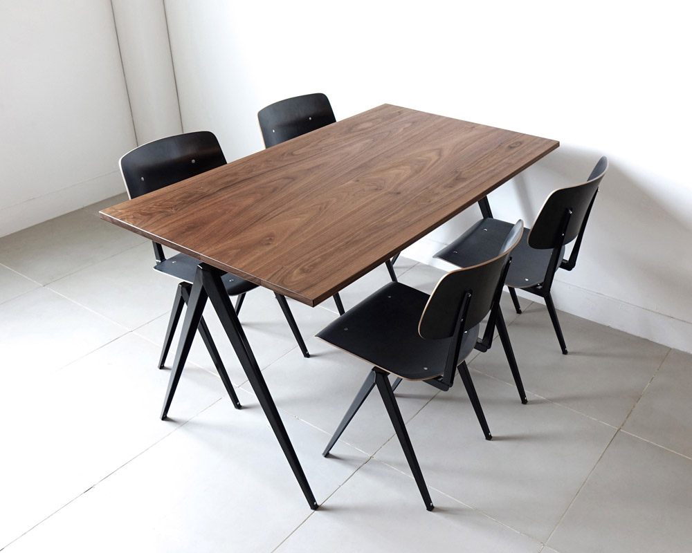 GALVANITAS | TD.4 Table Walnut/Black [2size] ガルファニタスTD.4テーブル ウォールナット/ブラック