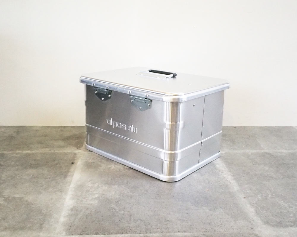 ALPOS | ALUMI CONTAINER with LID XS アルミコンテナ 蓋付き