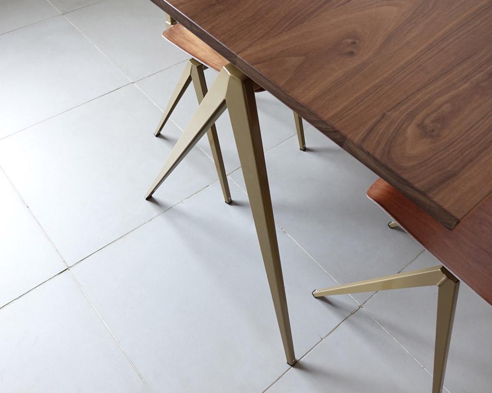 GALVANITAS | TD.4 Table Walnut/P.Gold [2size] ガルファニタスTD.4テーブル ウォールナット/パールゴールド