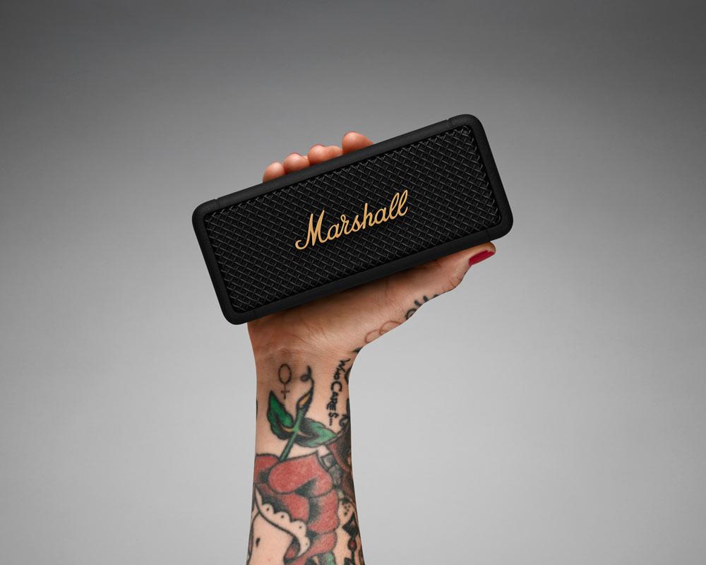 Marshall | Emberton Black and Brass Portable Speaker エンバートン ポータブルスピーカー