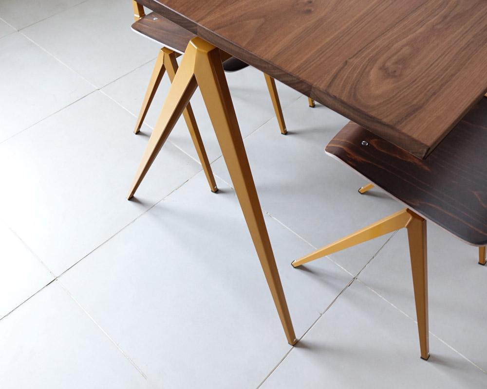 GALVANITAS | TD.4 Table Walnut/O.Brown [2size] ガルファニタスTD.4テーブル ウォールナット/オーカーブラウン