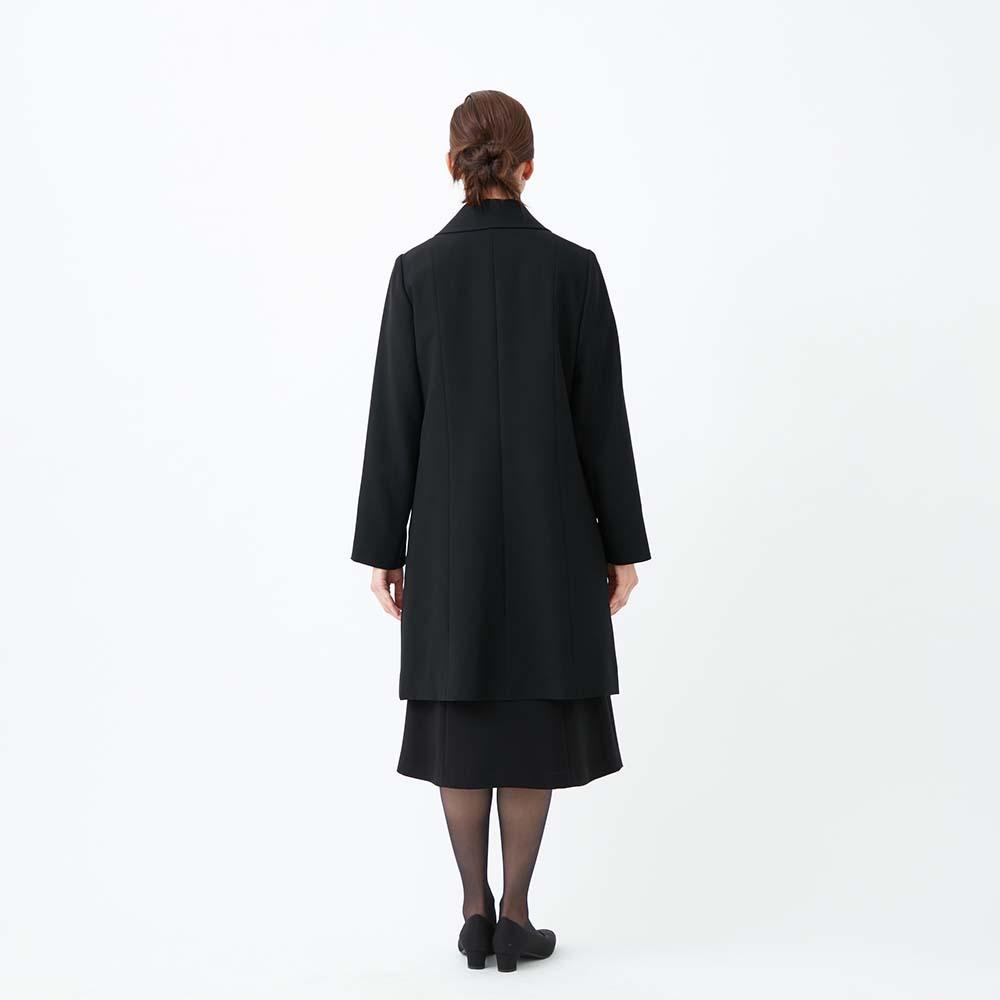 [商品番号1009100]ライナー付ステンカラーブラックコート