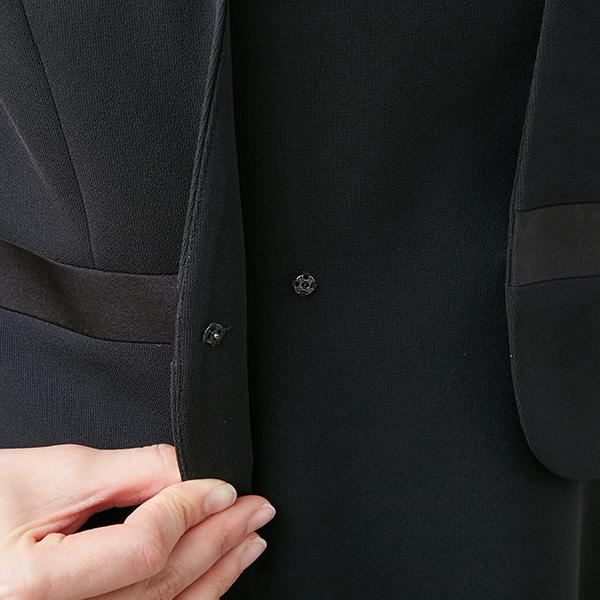 [商品番号1003902]サテン切替えジャケット×フレアーワンピース