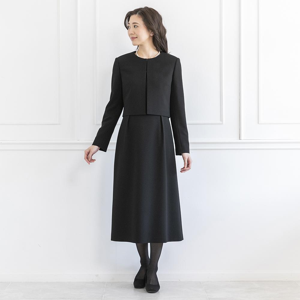 [商品番号1003300]ロールカラージャケット×ウエスト切替ワンピース