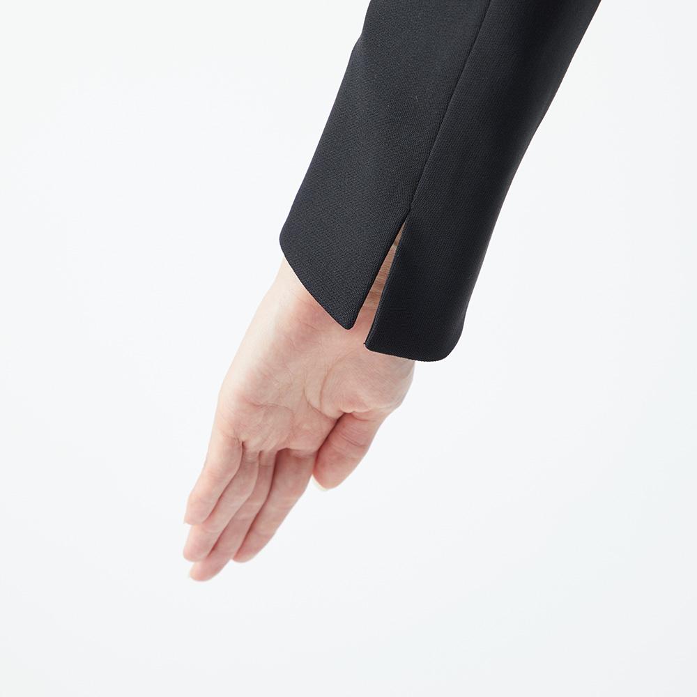 ノーカラージャケット×シフォン前開きワンピース [1003302]
