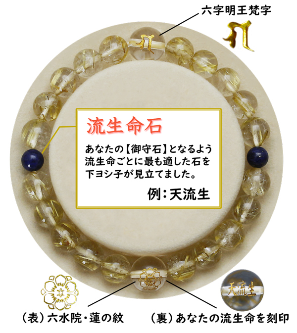 流生命【金運財運】ゴールドブレスレット