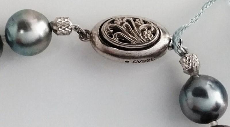 「送料完全無料!!」<br>南洋黒真珠ネックレス<br>細部まで美しい手作りアクセサリー<br>