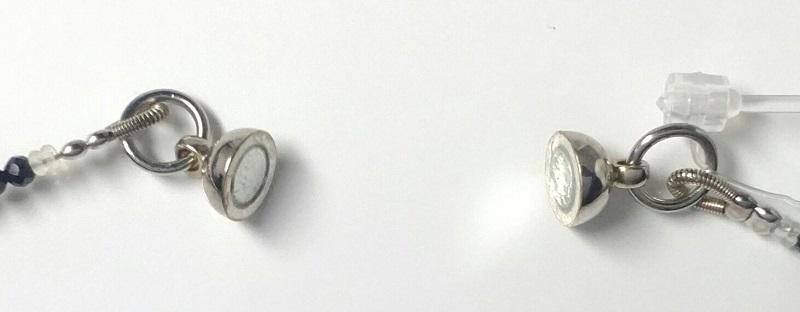 「送料完全無料!!」<br>琥珀&ブラックスピネルネックレス<br>細部まで美しい手作りアクセサリー<br>