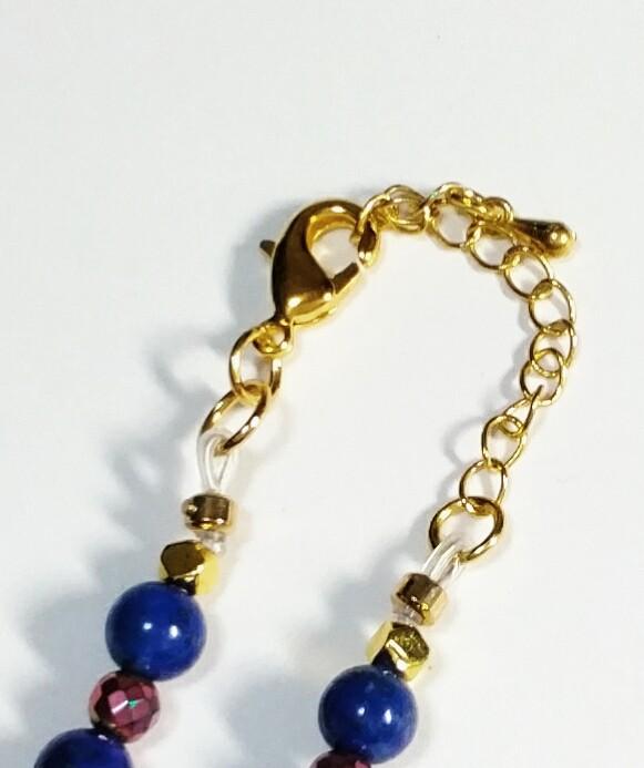 「送料完全無料!!!」<br>ラピスラズリ回紋珠ネックレス<br>細部まで美しい手作りアクセサリー<br>