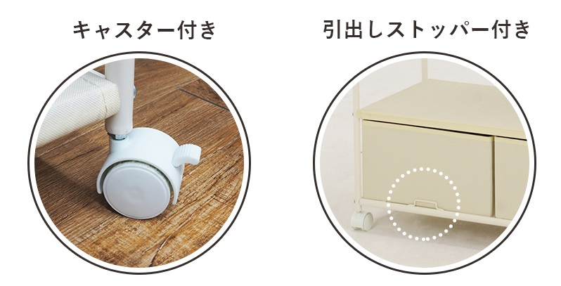 収納付きハンガーラック(引き出し2杯) *組立品 (送料無料)