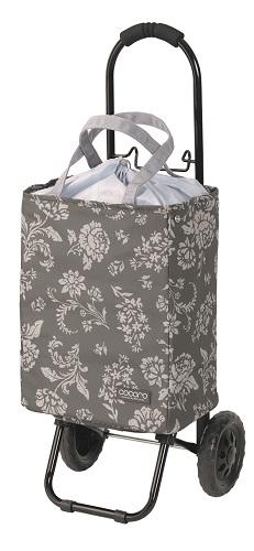 フロリアン花柄トートカート *組立品(フレーム部分は車輪の取り付けが必要です)*