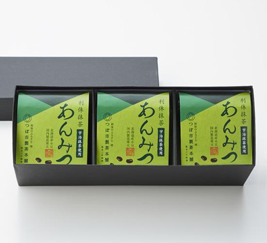 利休抹茶あんみつ 3個詰合せ(化粧箱入り)