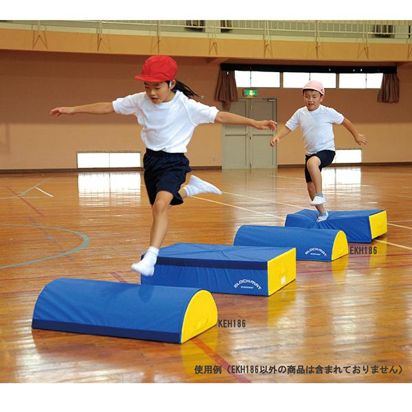 子どものバランス運動 体つくりに最適な エバニュー ブロックマット半円 EKH186 EVERNEW