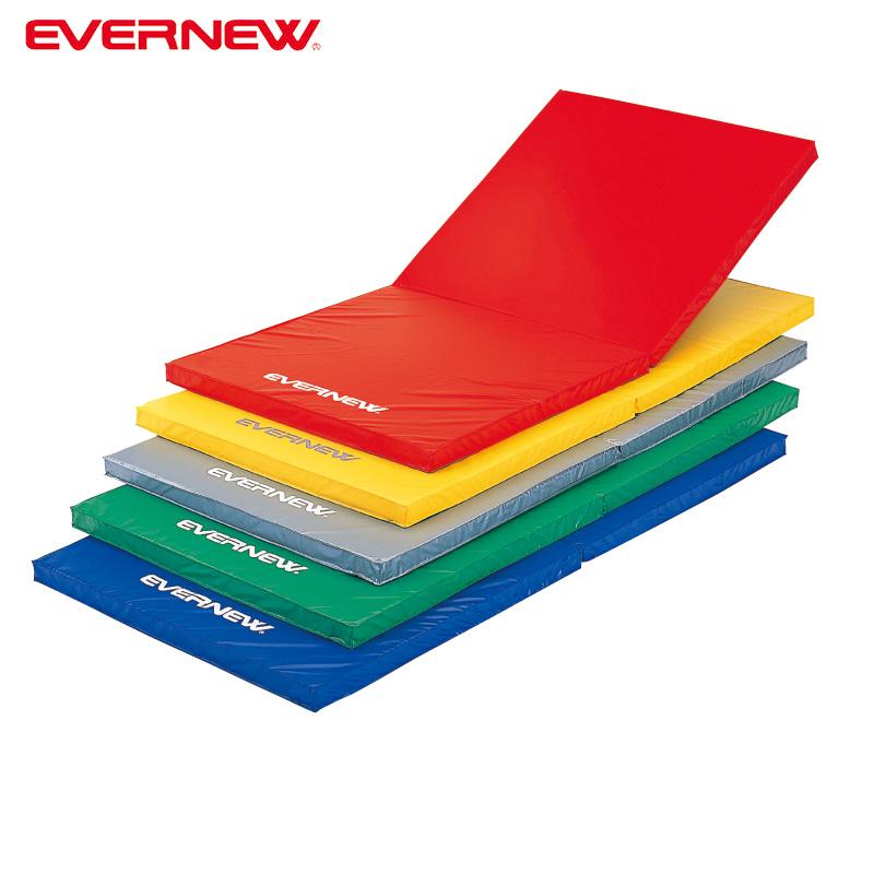 エバニュー 体操マット 軽量 折りたたみ カラーマット 滑り止め付 EKM076 EVERNEW