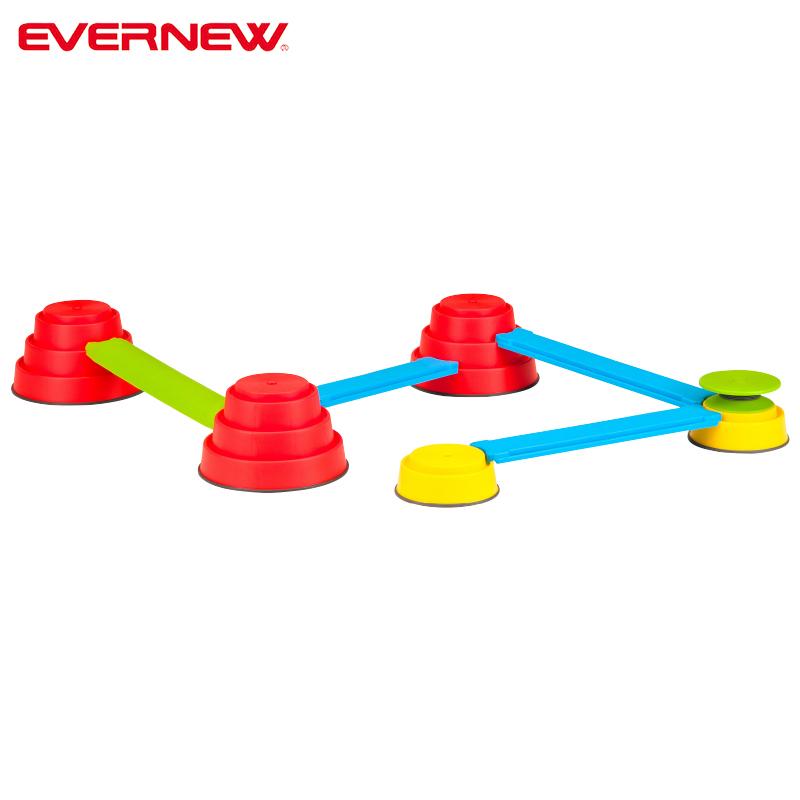 バランス遊具 組み合わせて平均台運動ができる エバニュー ビルドインバランス EVセット EGN004 EVERNEW