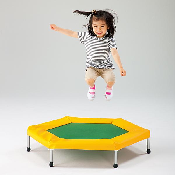 子供用トランポリン 無鉛塗装 体力向上にトランポリン運動 六角形ジャンピング