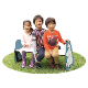 【在庫限り SALE】ムーミン(MOOMIN) 子ども用ベンチ キッズベンチ ムーミンファミリーベンチ