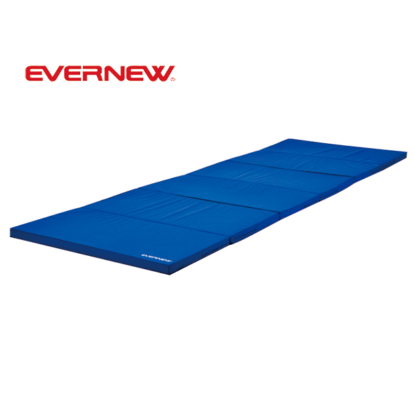 屋内用 体操マット カラーマット 軽量折りたたみワイドマットすべり止付 EKM080 EVERNEW