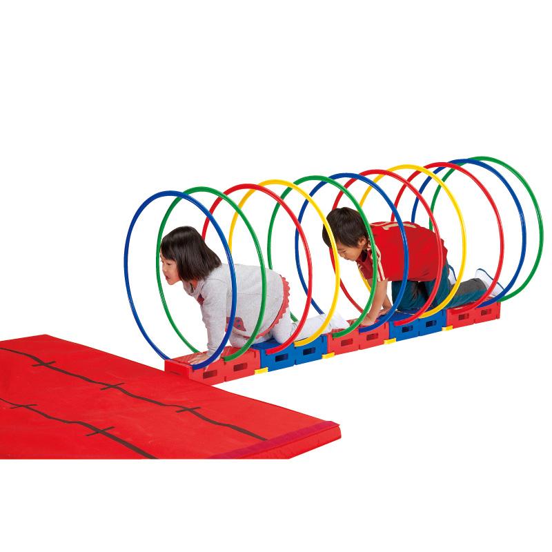子供の運動 バランス感覚の向上に トンネルバランス運動遊びセット ETE130 EVERNEW