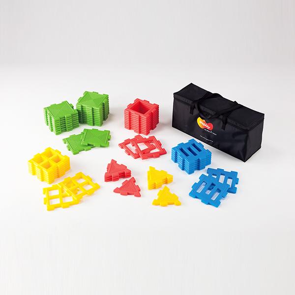 パネル プレート型の積み木 ブロック ウィーパネルブロック(56個組)
